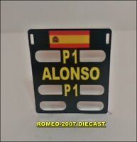 1:18 Pitboard F1 Formula 1 Fernando Alonso Renault Barein 2006 to minichamps