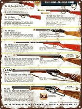"1954 Daisy Red Ryder Air Rifle Cork Pop Gun Rifle De Luxe  Metal Sign 9x12"" A456"