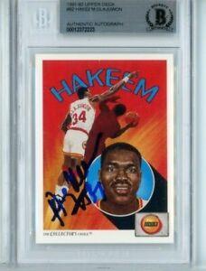 Hakeem Olajuwon Autographed Signed 1991 Upper Deck #92 Beckett BAS HOF