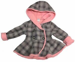 Mack & Co. Fleece Jacket Reversible Gray Plaid/Pink
