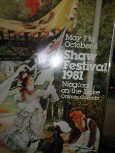 Framed Vintage Art Print Poster ~SHAW FESTIVAL 1981~ Niagara On The Lake Ontario