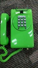 Vintage Stromberg Carlson Wall Phone Pushbutton Telephone Lime Green