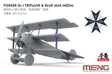 Meng Qs-003s 1/24 Fokker Dr I Triplane and Blue Max Medal Limited Edition BRAND