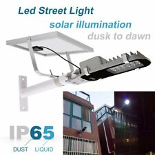 Solar Street Light 12 SMD LEDs Outdoor Pathway Parking Lot Backyard Bright Light