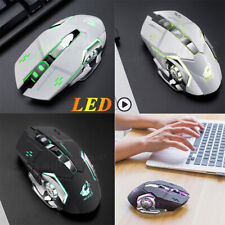 LED Optical USB Wired Gaming Mouse 6 Buttons Gamer Computer Mice Black USA