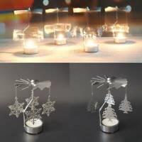 Christmas Candlesticks Rotating Candle Holder Romantic Carousel Tea Light Xmas