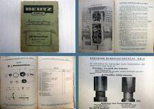 Deutz F2L 514/50 30 PS Schlepper Bedienungsanleitung Ersatzteilliste 1952