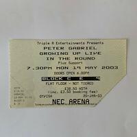 Peter Gabriel - NEC Arena May 19 2003 concert ticket stub