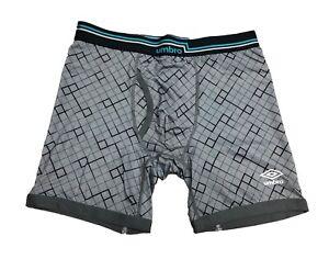 NWT Umbro Men's Performance Boxer Brief - Grey or Blue (Single)