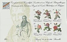 Belgique 1990 N° 2370 à 2375 Feuillet 100 ans de la Fédé Royale Cercles Philatel