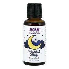 NOW FOODS 100% Peaceful Sleep Oil Blend 1 oz FRESH, FREE SHIPPING, Made In USA