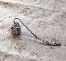 silver cat bookmark Tibetan Silver Cute Handmade Meow