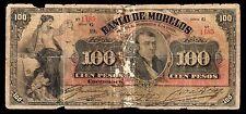 El Banco de Morelos 100 Pesos 6.03.1906, M421a / BK-MOR-18 About Good