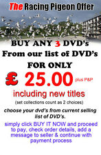 ANY 3 RACING PIGEON DVD's FROM OUR TITLES FOR ONLY £25 OFFER