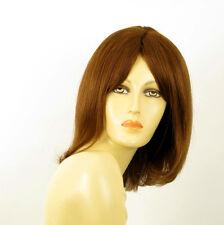 perruque femme 100% cheveux naturel châtain clair cuivré ref BAHIA  30