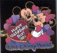 Disney WDW Happy Valentines Day BE Mine Mickey Mouse Minnie Mouse Pin