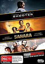 Shooter - Sahara - Four Brothers - NEW DVD