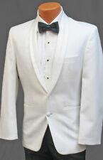42R Men's White Tuxedo Jacket with Satin Shawl Lapels Prom Wedding Quinceanera