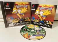 The Simpsons Wrestling - Sony PS1 PlayStation Video Game - Complete -BLACK LABEL