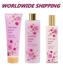 Bodycology Sweet Love Combo Mist + Body Cream + Body Wash WORLDWIDE SHIPPING