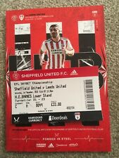 SHEFFIELD UNITED V LEEDS UNITED 01-12-2018 MATCH PROGRAMME & TICKET