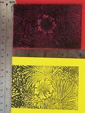 UM William Morris Marigold rubber stamp by Amazing Arts