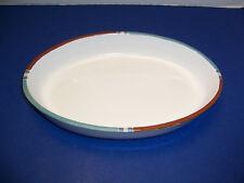 """Southwest Style Dansk Mesa White Sand Medium Oval Baker (12 ½"""") Portugal NICE"""