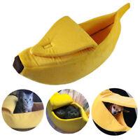 Cute Banana Pet House Dog Bed Cat Sofa Plush Warm Home Kennel Boat Cushion Tent