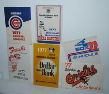1977 MLB baseball pocket schedules, 6 different
