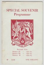 Northampton Town V Portsmouth 1965 Programme Hand Signed Jimmy Dickinson + More
