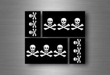 4x sticker flag car motorcycle decal bumper vinyl adhesive pirate 3 skull