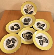 Mottahedeh Fruits of the Sea Salad Plate Set of 7  Plates Mussels