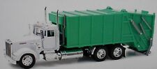 1:32 KENWORTH W900 TRASH GARBAGE SANITATION TRUCK NEW-RAY DIECAST WHITE CAB