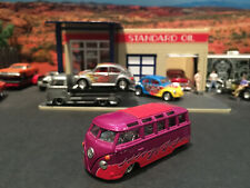 Hot Wheels Limited Edition VW 23 Window Microbus Street Rod Purple w/ Flames