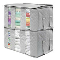 SUPER LARGE FOLDABLE NON-WOVEN CLOTHES QUILT BLANKET STORAGE BAG ORGANIZER BOX