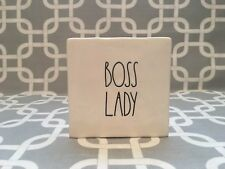 "Rae Dunn By Magenta "" BOSS LADY "" Block. New!!"