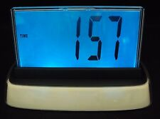 Digital Desk Clock Cl-110 ~ w/Time, Temperature, Date, Changing Color,Alarm