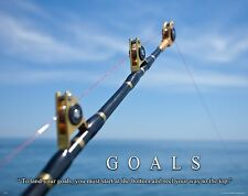 Salt Water Tuna Big Game Fishing Motivational Poster  Lures Reels Rods MVP469