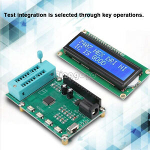 1PCS IC Tester Digital Meter 74 40 45 Series lC Logic Gate Tester New