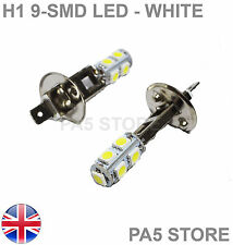 2x H1 9-SMD LED 5050 Xenon White - Fog Lights - Daytime Running Lights - UK POST