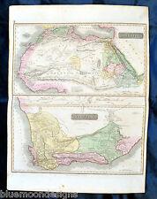 North and South Africa - Thomson 1817 - Original Map Karte Südafrika Nordafrika