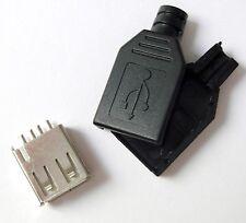 Connecteur à souder USB 2.0 femelle + boitier 2 pièces / Connector 4 pins +Box