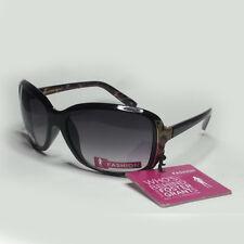 Foster Grant Women Black Sunglasses Suspense Wrap Butterfly Rectangular NWT