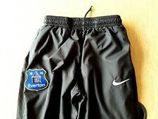 Everton Tracksuit Bottoms. Small. Nike. Black Adults Track Trousers.