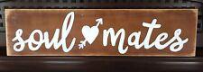 SOUL MATES Heart LOVE Sign Plaque Urban Farmhouse Wall Decor Prop Barn Wedding