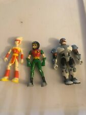 3.5� Bandai Teen Titans Go Robin Cyborg and Lightning Figures