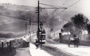 Northumbria, Wallsend Tram Real Photo Postcard Size)  & Street Scene