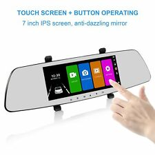 SENDOW Mirror Dual Dash Camera 7 Inch 1080P IPS Touch Screen 170 Wide Rearview