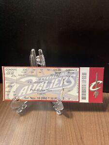 NBA Cleveland Cavaliers Unused Ticket Vintage Nov 15 2003 Lebron James Rookie YR