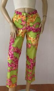 VERSACE Floral Cotton Cropped Pants   (Size 42)